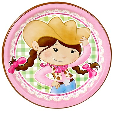 Pink Cowgirl Dinner Plates (8)