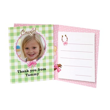 Pink Cowgirl Personalized Thank-You Notes (8)