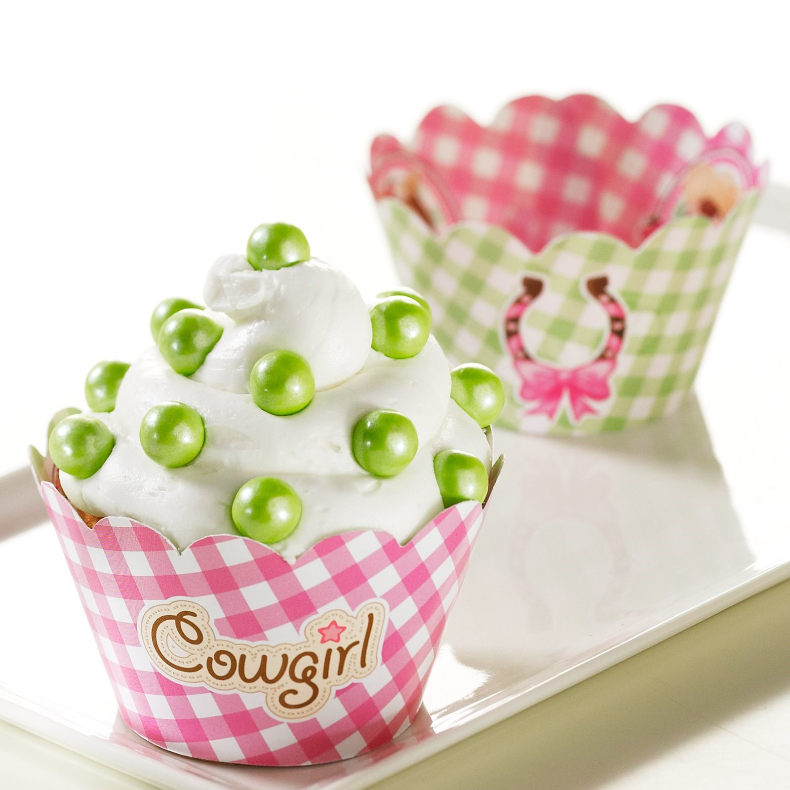 Cowgirl Birthday Decorations Pink Cowgirl Reversible Cupcake Wrappers 12 Birthdayexpresscom