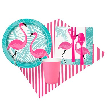 Pink Flamingo Party 8 Guest Party Pack