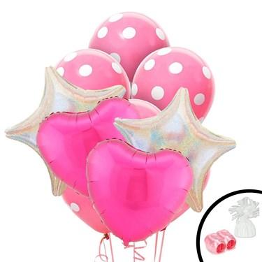 Pink Heart Balloon Bouquet