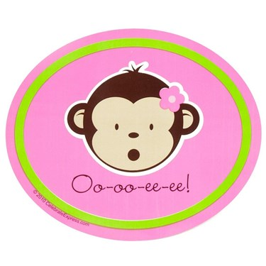 Pink Mod Monkey Stickers