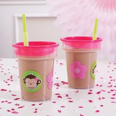 Pink Mod Monkey Tumbler