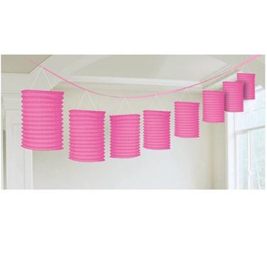 Pink Paper Lantern Garland