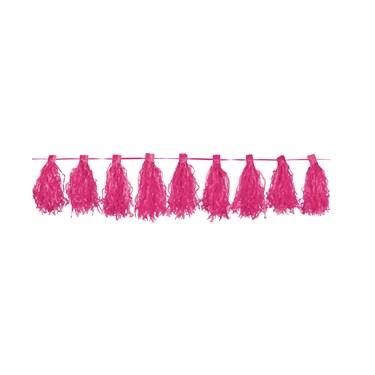Pink Paper Tassel Garland