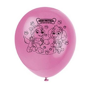 "Pink Paw Patrol 12"" Latex Balloons (8)"