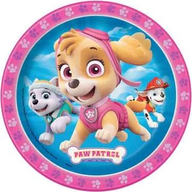 "Pink Paw Patrol 7"" Dessert Plate (8)"