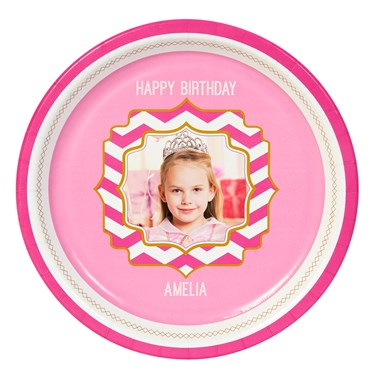 Pink! Personalized Dinner Plates (8)
