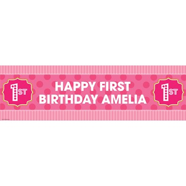 Pink! Personalized Vinyl Banner