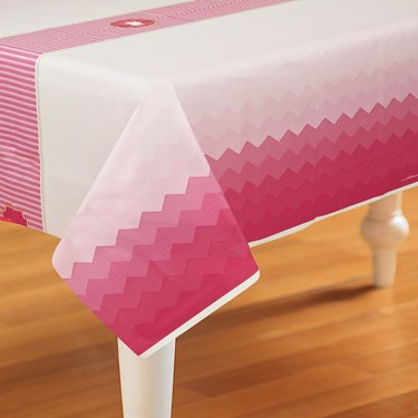 Pink! Plastic Tablecover