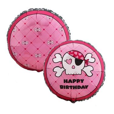 Pink Skull Foil Balloon
