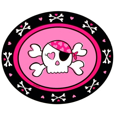 Pink Skull Stickers