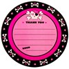 Pink Skull Thank-You Notes