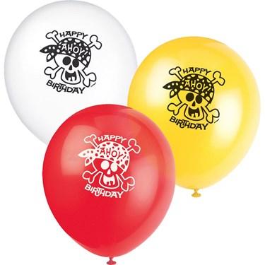 Pirate Fun Latex Balloons(8)