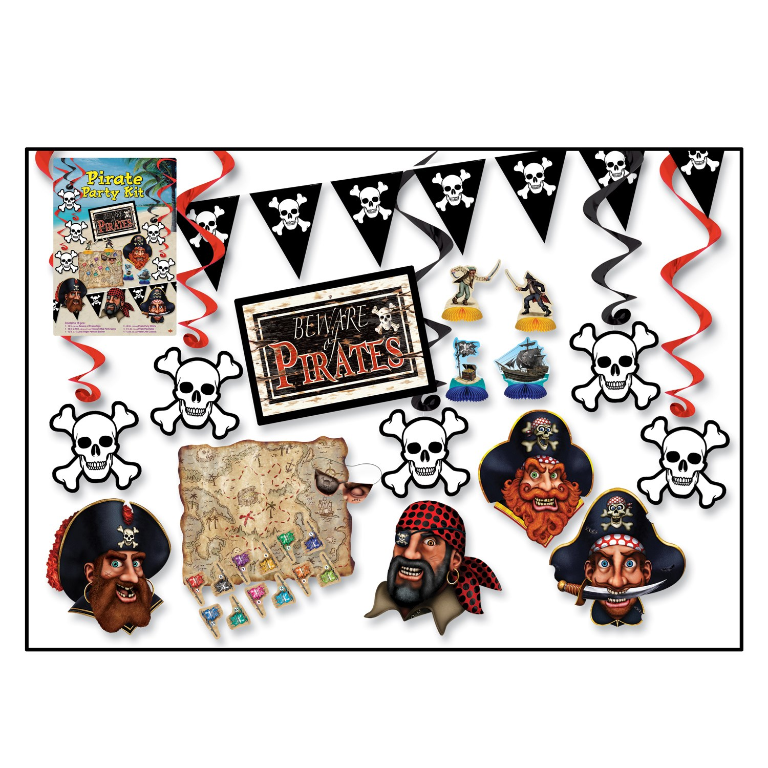 default image pirate party decoration kit - Pirate Decorations