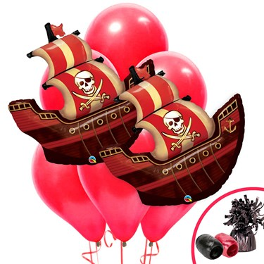 Pirate Ship Jumbo Balloon Bouquet