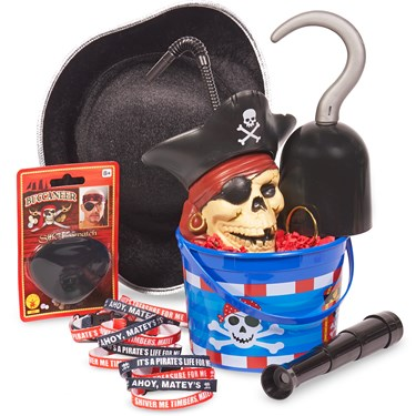Pirates Filled Party Favor Bucket