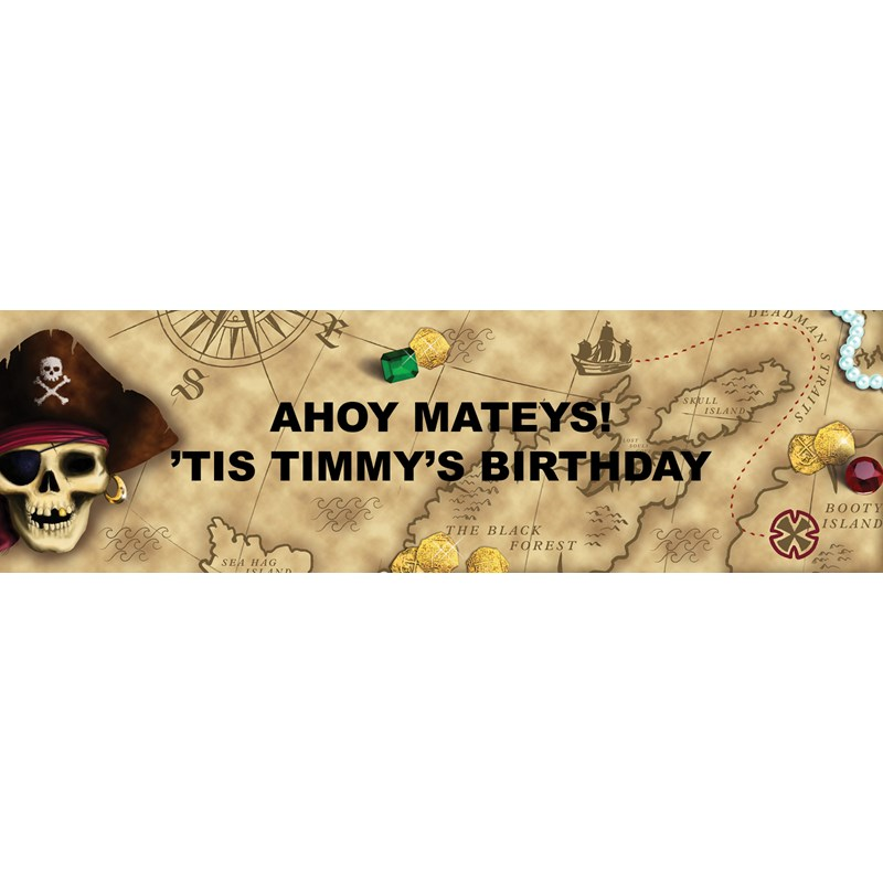 Pirates Personalized Vinyl Banner