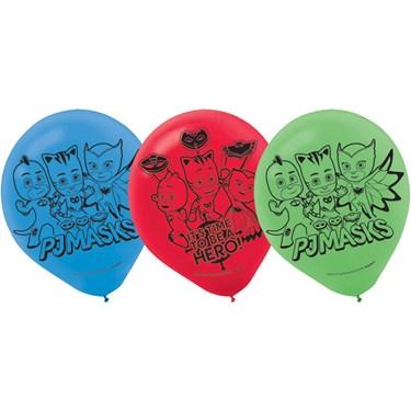 "PJ Mask BALLOONS LATEX 12"" 6CT PJ M"