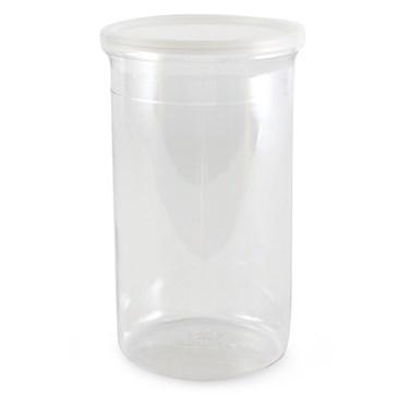 "Plastic Round Candy Jar (4.25"" x 7.875"")"