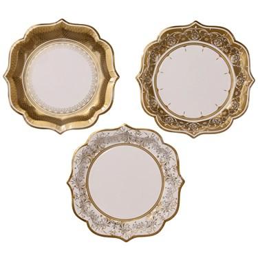 Plate Medium In 3 Designs 12Pk