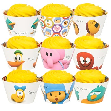 Pocoyo Reversable Cupcake Wrappers Assorted (12)