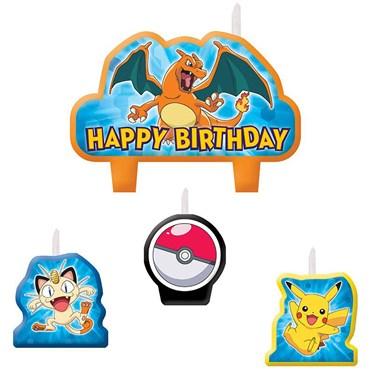 Pokemon Birthday Candles (set Of 4)