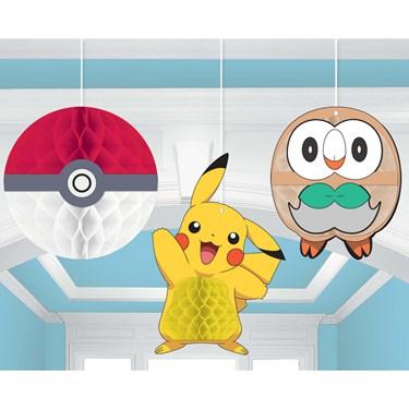Pokemon Core Honeycomb Decorations (3)