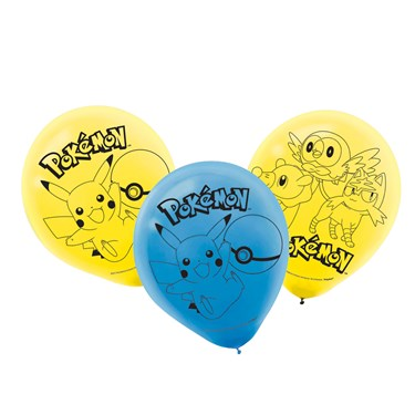 Pokemon Core Latex Balloons (6)