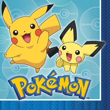 Pokemon Core Lunch Napkins (16)
