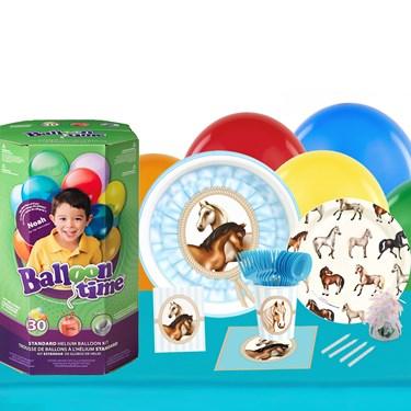 Ponies 16 Piece Tableware & Helium Tank