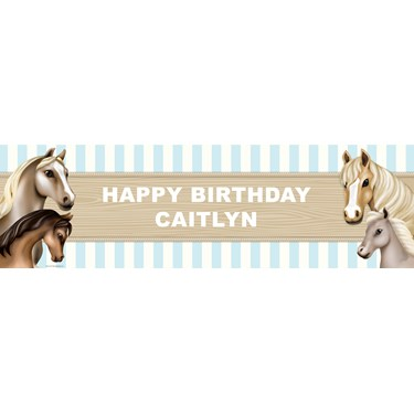 Ponies Personalized Vinyl Banner