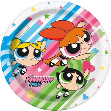 Power Puff Girls Dinner Plates (8)