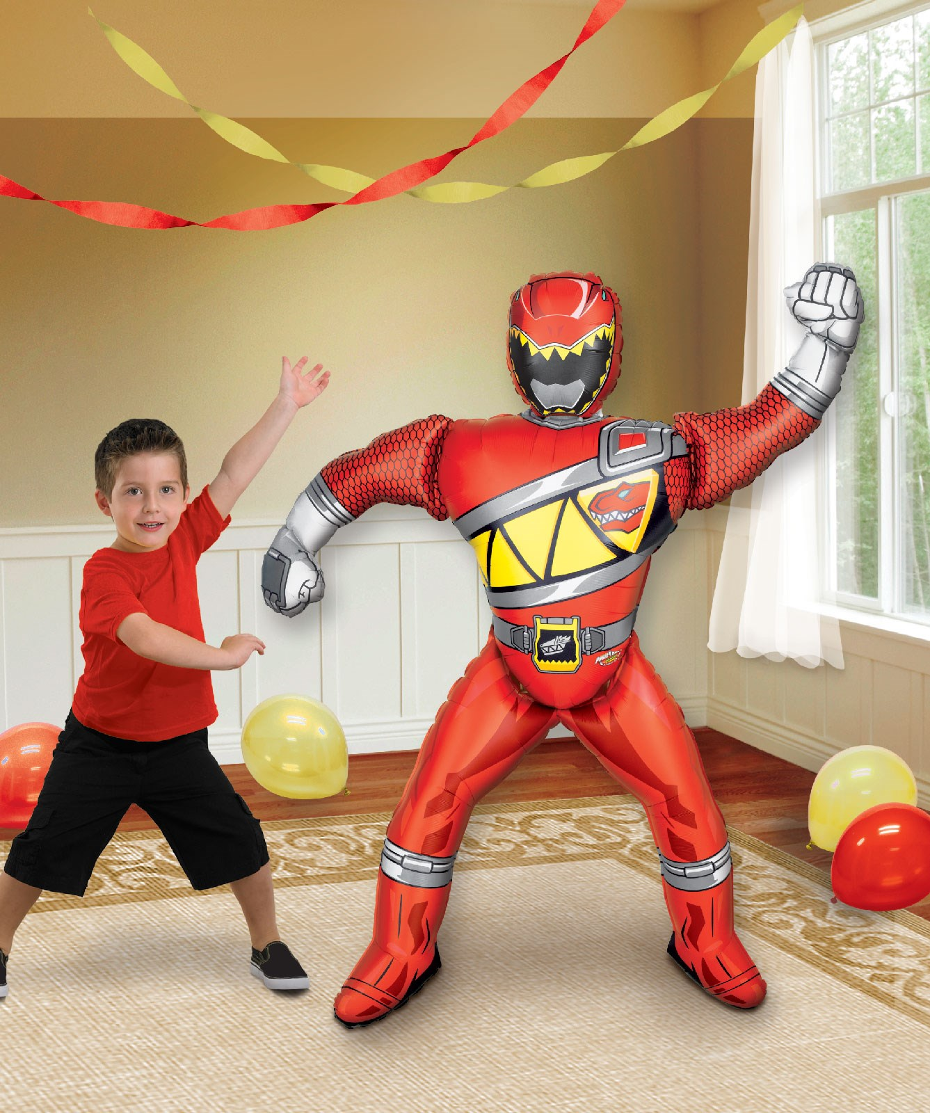 power rangers dino charge airwalker foil balloon. Black Bedroom Furniture Sets. Home Design Ideas