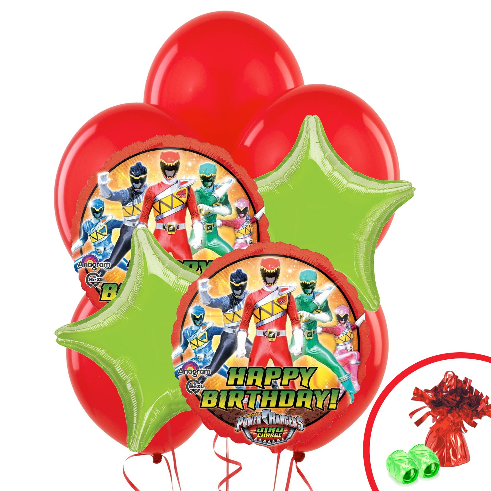 Power Rangers Dino Charge Balloon Bouquet – Power Rangers Party Invitations