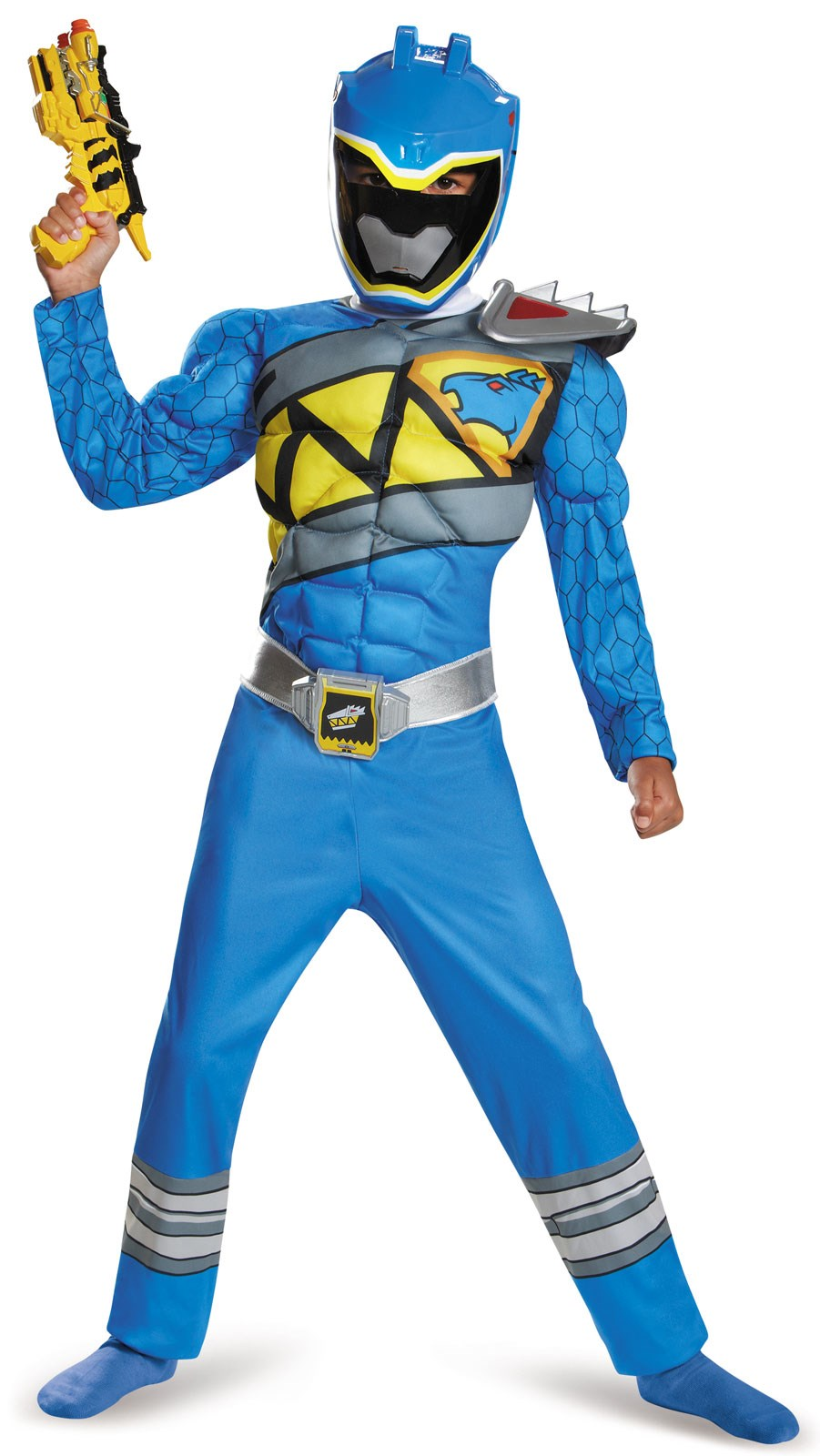 Power Rangers Dino Charge Blue Ranger Muscle Costume For