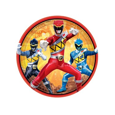Power Rangers Dino Charge Dessert Plates (8)