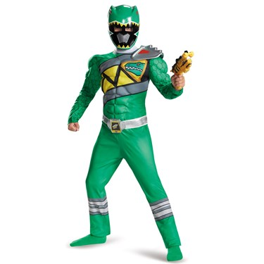 Power Rangers Dino Charge: Green Ranger Muscle Costume For Kids