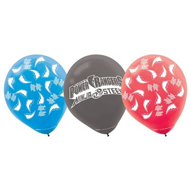 Power Rangers Ninja Steel Latex Balloons (6)