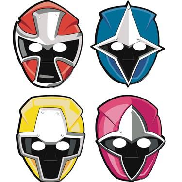 Power Rangers Ninja Steel Paper Masks(8)