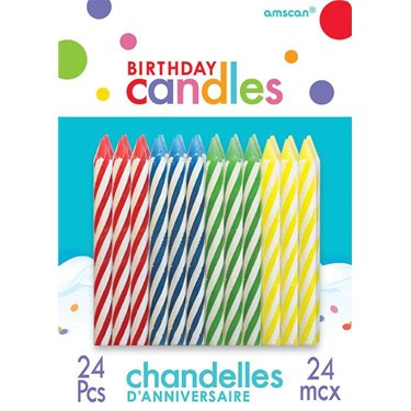 Primary Assorted Birthday Candles (24)