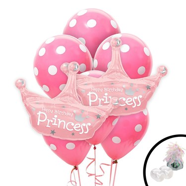 Princess Crown Jumbo Balloon Bouquet