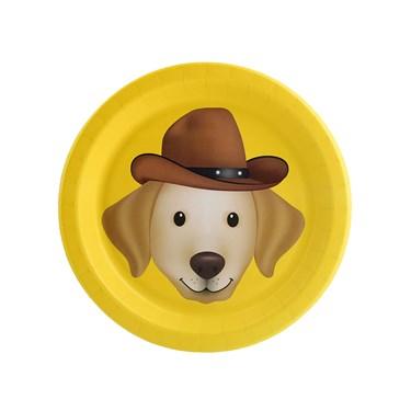 Puppy Dog Paw-ty Yellow Lab Dessert Plate (8)