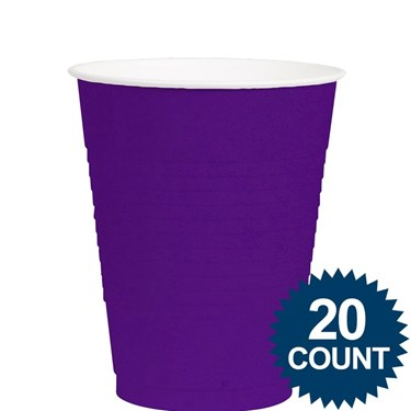 Purple 12oz. Plastic Cups (20)