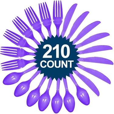 Purple Cutlery Set - Value Pack (210 Pa