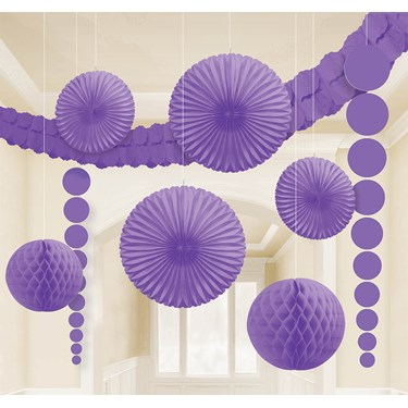 Purple Paper Decorating Kit