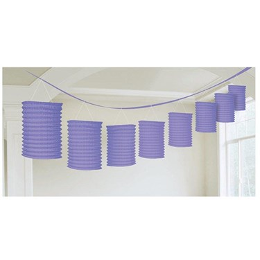 Purple Paper Lantern Garland