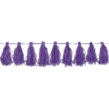 Purple Paper Tassel Garland