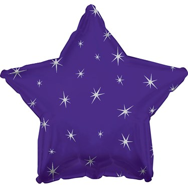 Purple Sparkle Star Foil Balloon