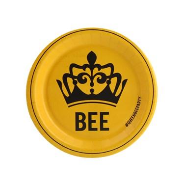 Queen Bee Yellow Dessert Plate (8)